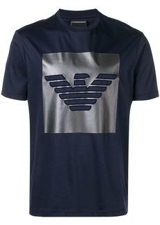 Armani metallic logo print t-shirt
