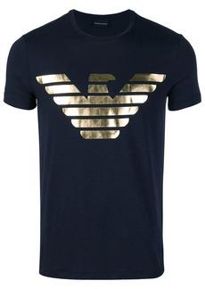 Armani metallic logo printed T-shirt