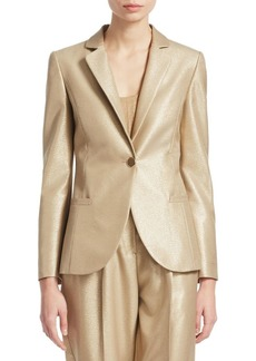 Armani Metallic Notch Lapel Blazer
