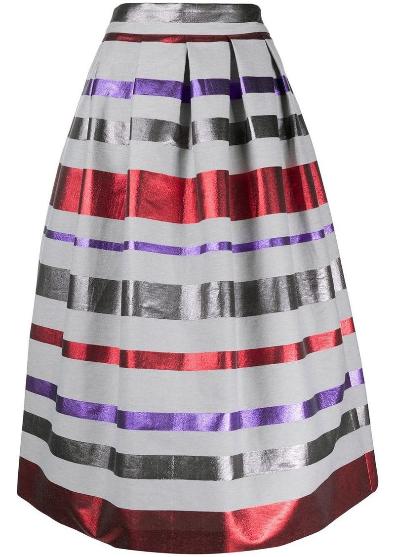 Armani metallic stripe midi skirt