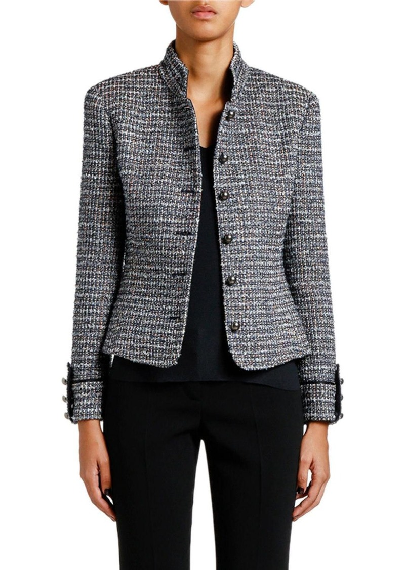 Armani Metallic Tweed Military Jacket