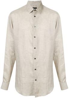 Armani micro check shirt