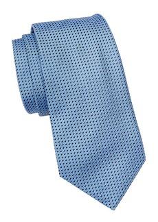 Armani Micro Check Silk Tie