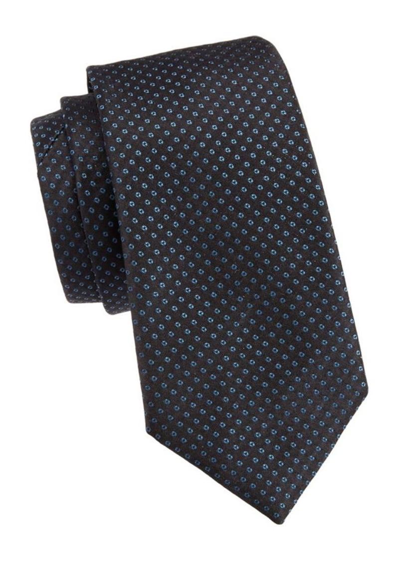 Armani Micro Dot Silk Tie