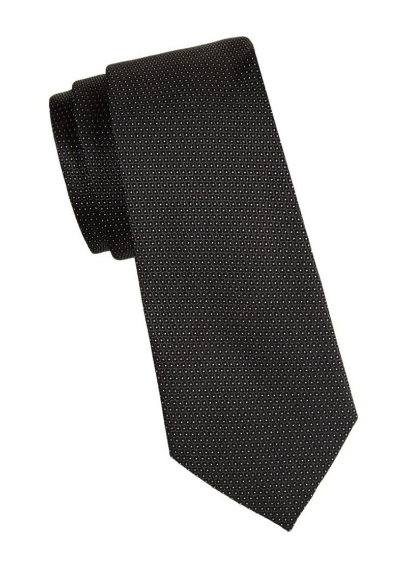 Armani Micro-Dot Silk Tie