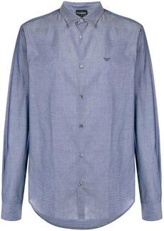 Armani micro-geometric pattern shirt
