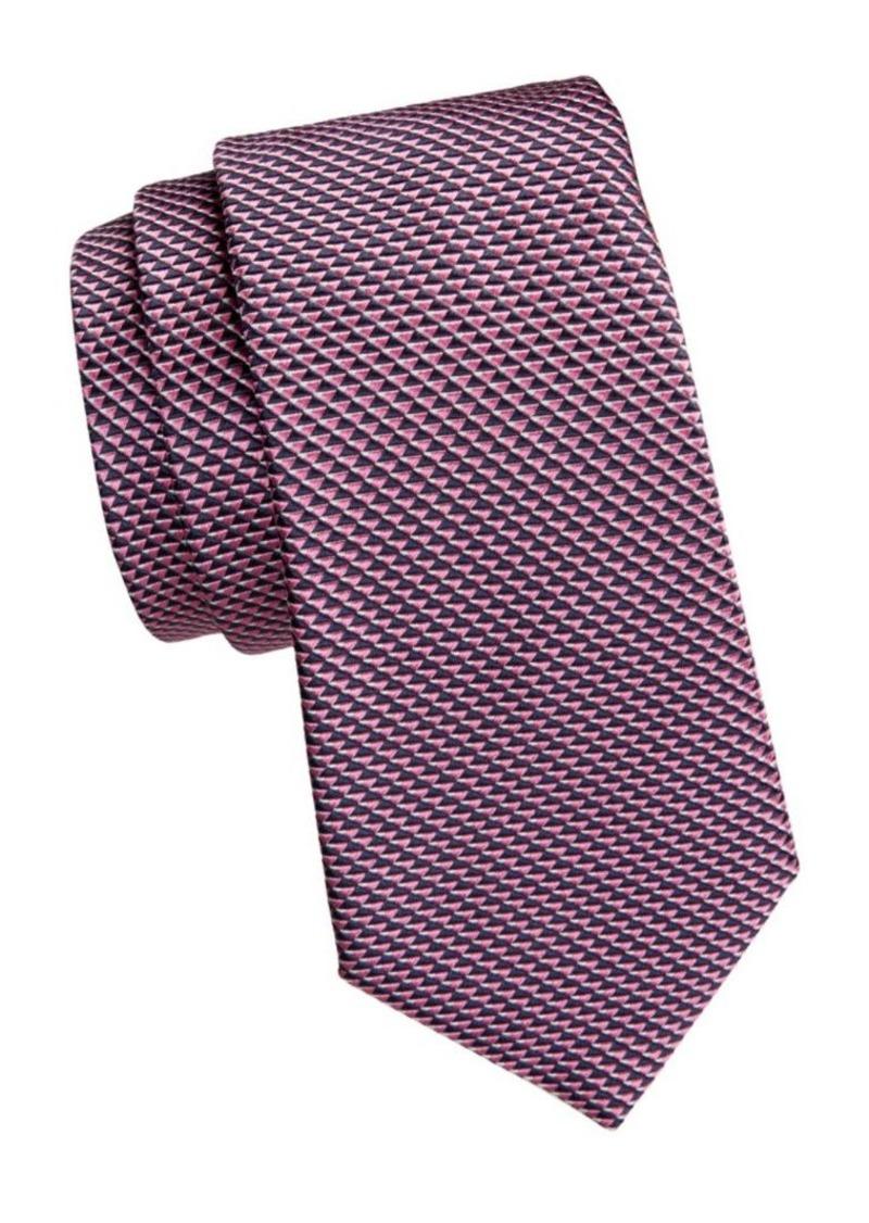 Armani Micro Print Silk Tie