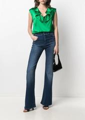 Armani mid-rise bootcut jeans