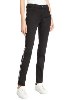 Armani Mid-Rise Piped Skinny Jeans