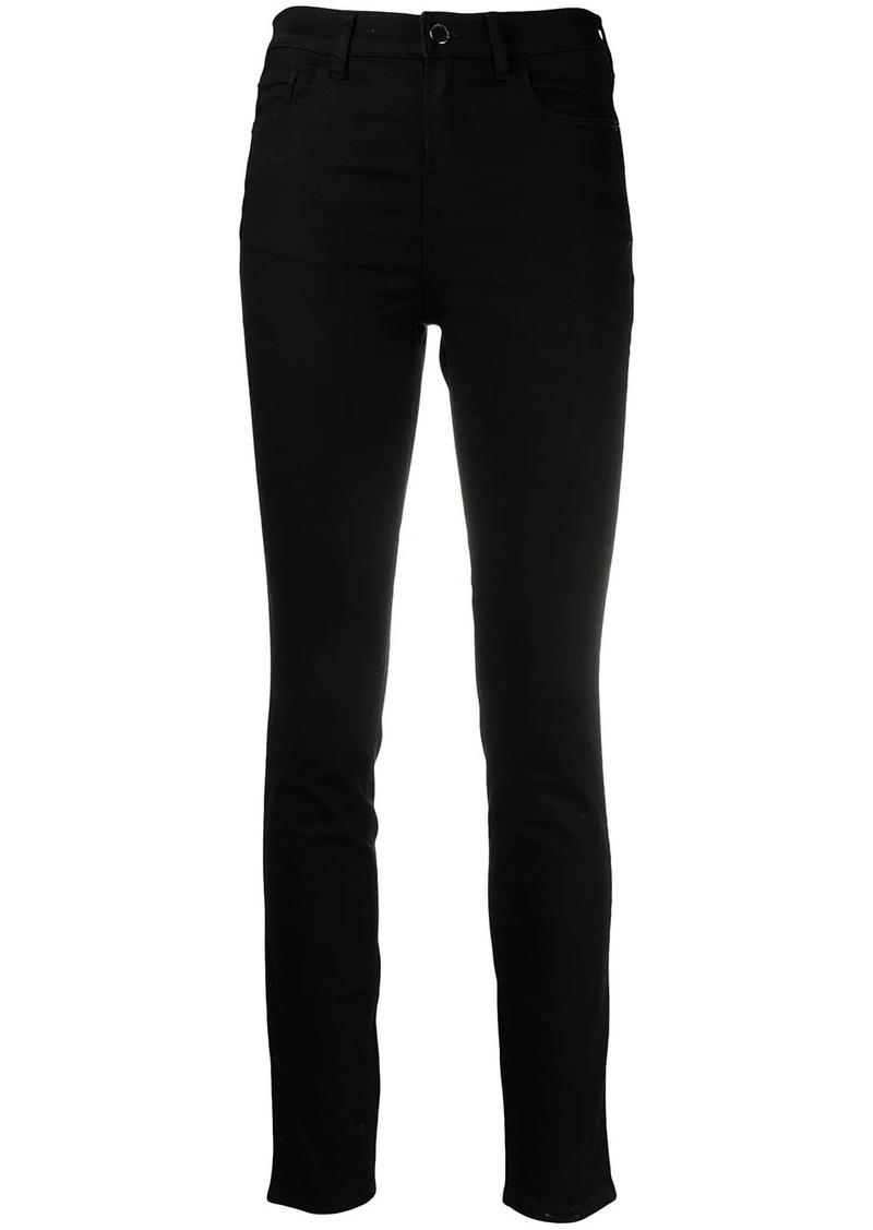 Armani mid-rise slim-cut jeans
