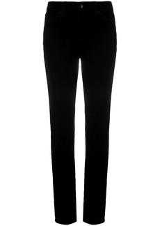Armani mid-rise slim-fit trousers