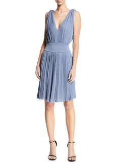 Armani Midnight Ottoman Rib Fit & Flare Dress