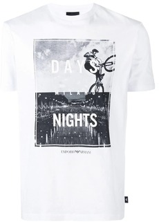 Armani Milano Days & Nights print T-shirt