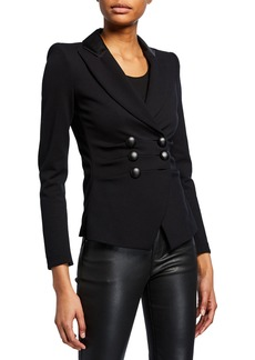 Armani Milano Jersey Faux Double-Breasted Jacket