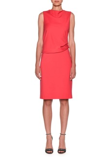 Armani Milano Jersey Sleeveless Popover Dress