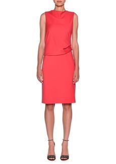 Armani Milano Jersey Sleeveless Popover Dress