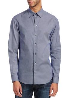 Armani Mini-Diamond Cotton Shirt