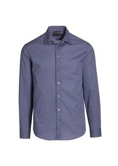 Armani Mini Dot-Print Sport Shirt
