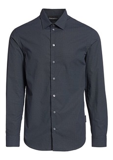 Armani Mini-Geometric Cotton Shirt