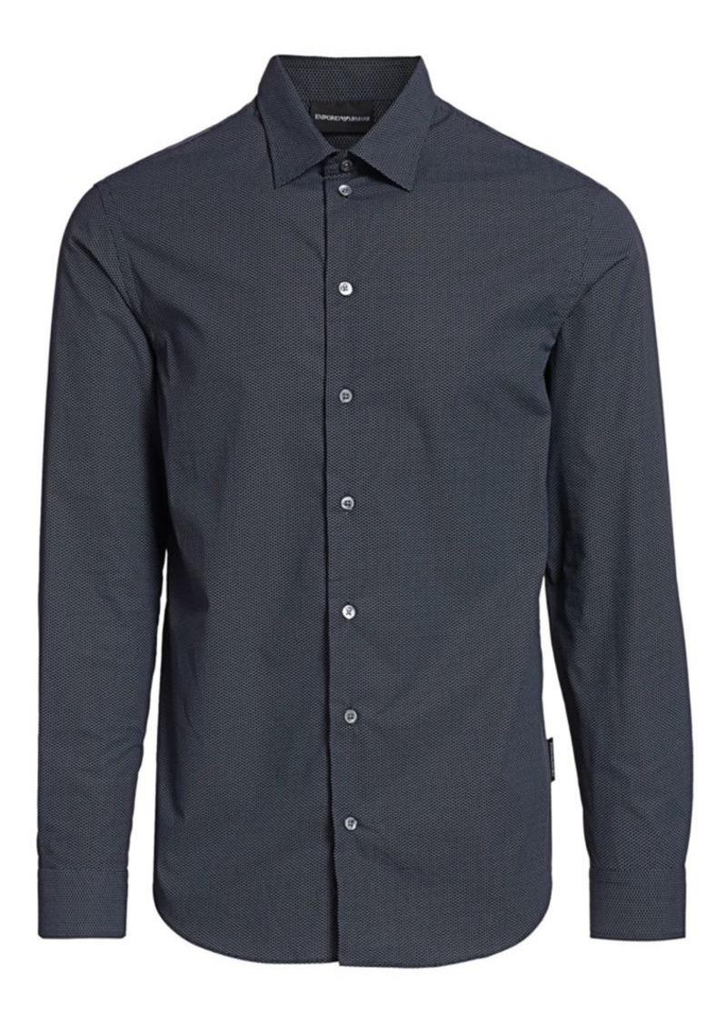 Armani Mini-Geometric Cotton Shirt