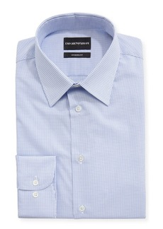Armani Modern Fit Tattersall Barrel-Cuff Dress Shirt