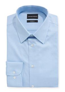 Armani Modern Fit Textured Barrel-Cuff Dress Shirt