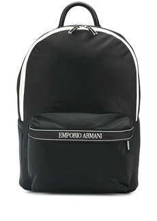 Armani monochrome shell backpack
