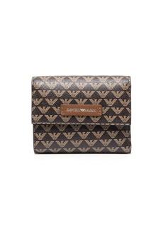 Armani monogram-print leather wallet