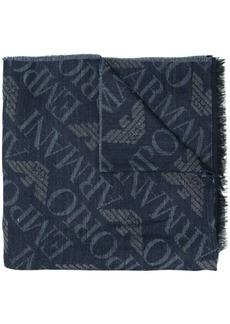 Armani monogram print scarf