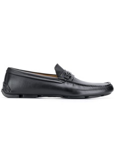 Armani monogrammed loafers