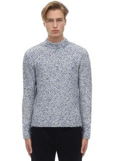 Armani Moss Stitch Cashmere Blend Sweater