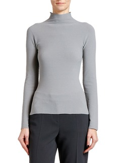 Armani Moss Stitch Jersey Turtleneck