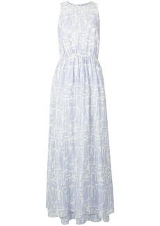 Armani motif maxi dress