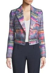 Armani Multi Hyper-Tweed Short Blazer