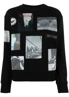 Armani multi-patches detail sweatshirt
