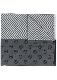 Armani multi pattern scarf