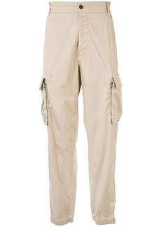 Armani multi-pocket elasticated cuff trousers