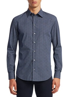 Armani Multi-Print Button-Down Shirt