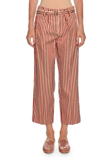 Armani Multi-Striped Wide-Leg Cotton-Silk Pants