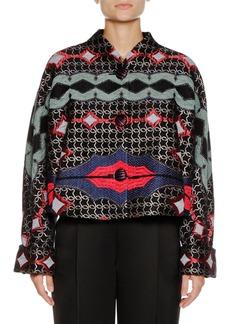 Armani Multicolor Embroidered Artisan Short Caban Jacket
