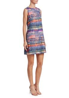 Armani Multicolor Sleeveless Tweed Dress