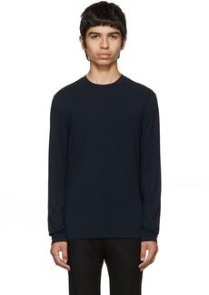 Armani Navy Viscose Sweater
