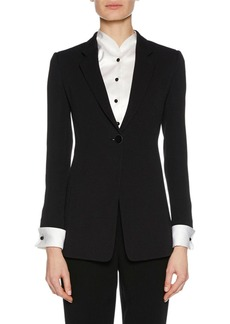 Armani Notched-Collar One-Button Jacket