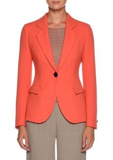Armani Notched-Lapel One-Button Wool Jacket