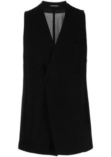 Armani off-centre button waistcoat