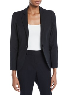 Armani One-Button Basic Cady Jacket