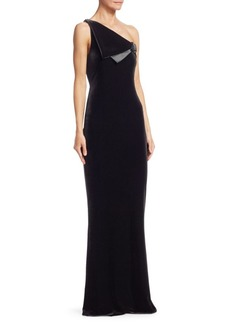 Armani One-Shoulder Velvet Gown