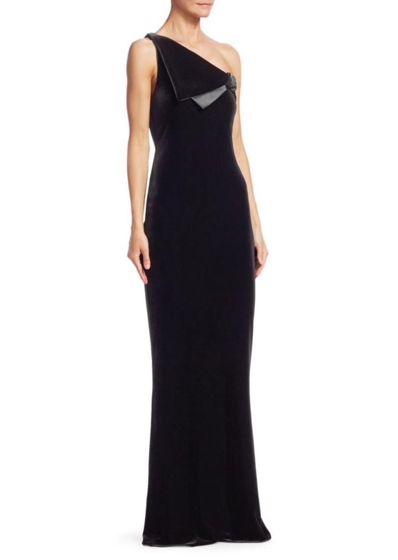 Armani One-Shoulder Velvet Gown