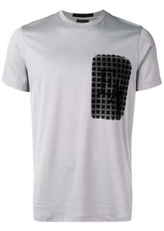 Armani optical-effect logo T-shirt