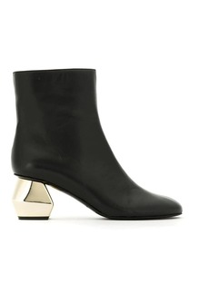 Armani ornamental heel boots